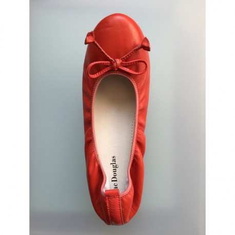 Ballerines Eliane, cuir d'agneau orange