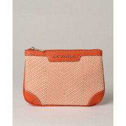 Jaipur Fantasia, pochette à motif chevrons orange
