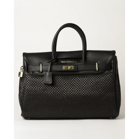 Pyla Fantasia, grand sac à main toile tressée noire