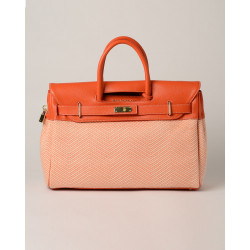 Pyla Fantasia, grand sac à main motif chevrons orange