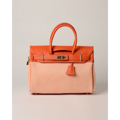 Pyla Fantasia, petit sac à main motif chevrons orange