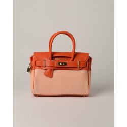 Pyla Fantasia, mini sac à main motif chevrons orange