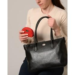 COCO BUNI, porte monnaie zippé rouge fraise