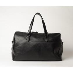 Agapy Hary, sac voyage week-end cuir grainé noir