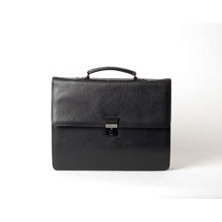 Email Hary, porte-document cuir grainé noir