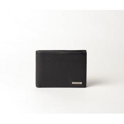Troc Spencer, petit portefeuillle portecartes cuir noir