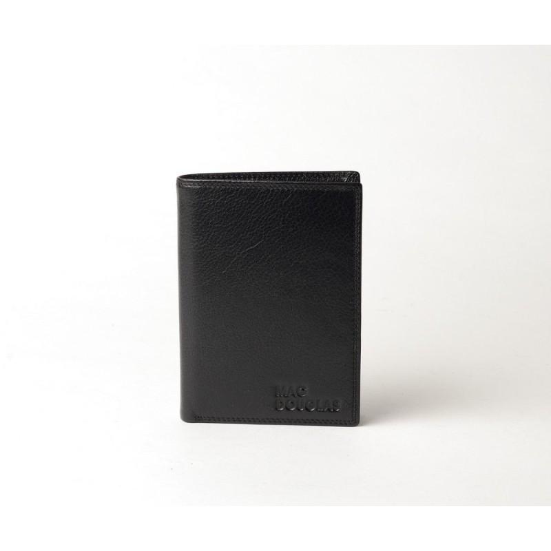 Eko Stone, portefeuille cuir noir