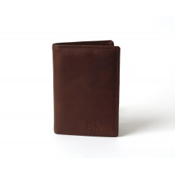 Eko Stone, portefeuille cuir chocolat