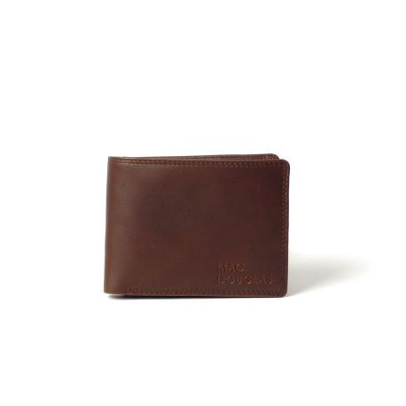 Equinox Stone, porte cartes cuir chocolat