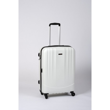 Timbo Travel M, valise moyenne blanche