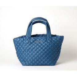 Marrakech Miami, sac cabas matelassé bleu jean
