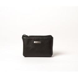Limace Spencer, porte-monnaie zippé noir