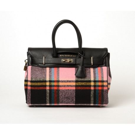 Pyla Fantasia, petit sac à main à motif mohair rose