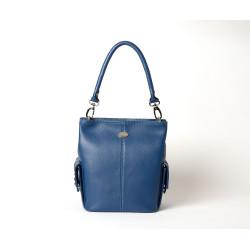 MEGALO VESUVIO, petit sac seau bleu pétrole
