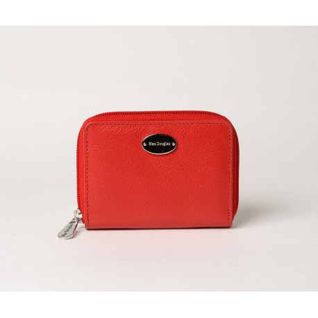 Cutter Buni, portefeuille zippé rouge fraise