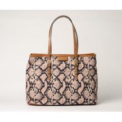 Everton Paloma sac cabas toile motif python
