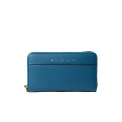 BALISE MERYL, portefeuille zippé bleu