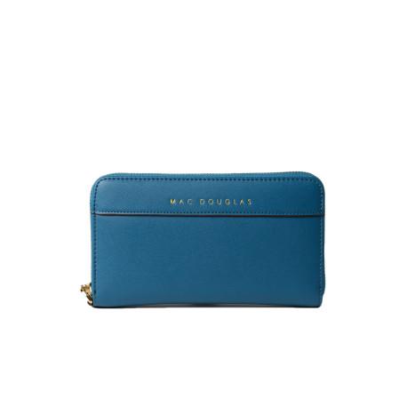 Balise Meryl portefeuille zippé bleu