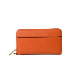 BALISE MERYL, portefeuille zippé orange