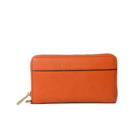 Balise Meryl portefeuille zippé orange