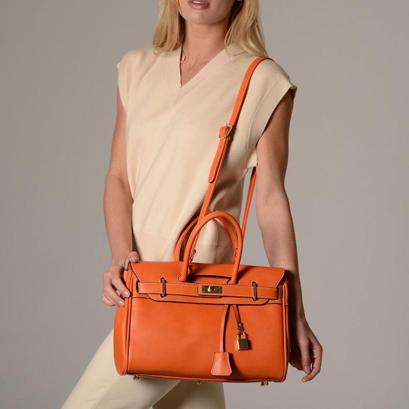 Pyla Meryl, petit sac à main orange