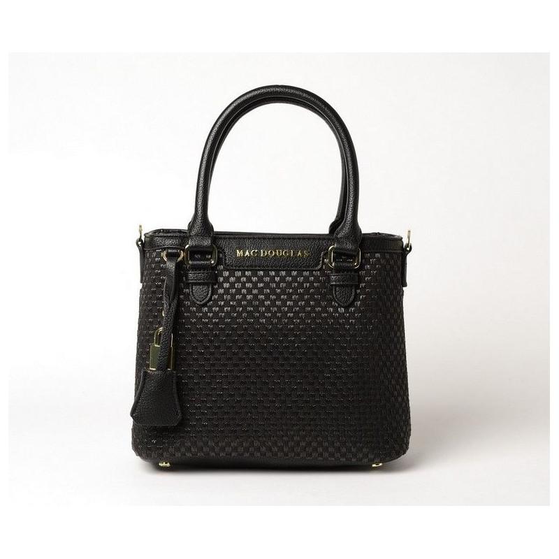 LAURENE FANTASIA, petit sac cabas toile tressée noire