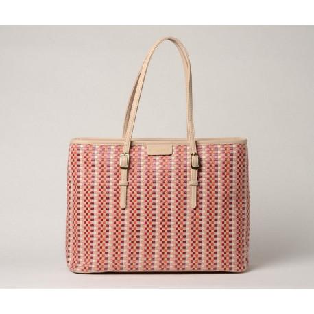 EVERTON PALOMA, sac cabas tressé pink