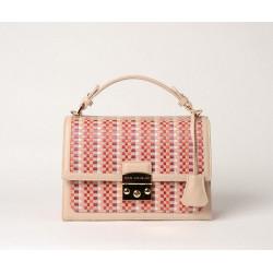 JOYAU PALOMA, sac cartable tressé pink