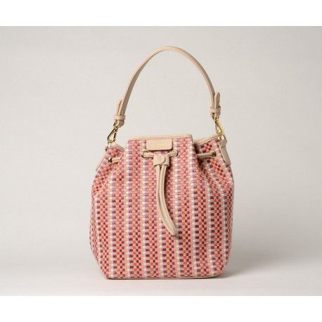 LIVELY PALOMA, sac seau tressé pink