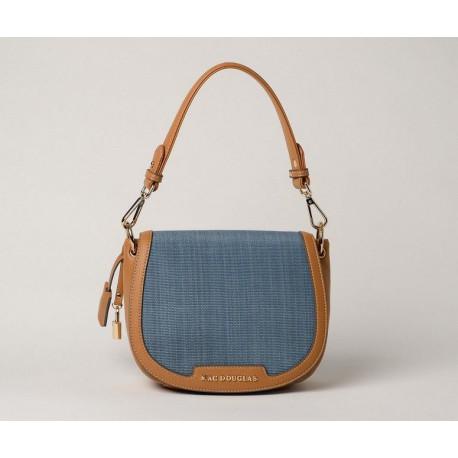 NAIA FANTASIA, sac porté épaule à motif bleu glacier