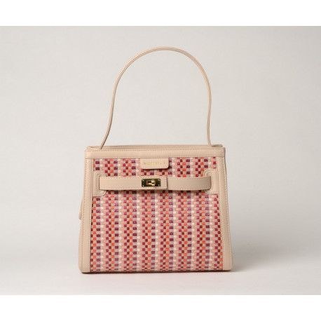PAYTON PALOMA, petit sac porté épaule tressé pink