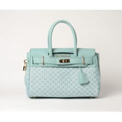PYLA FANTASIA, mini sac à main à motif losange bleu azur