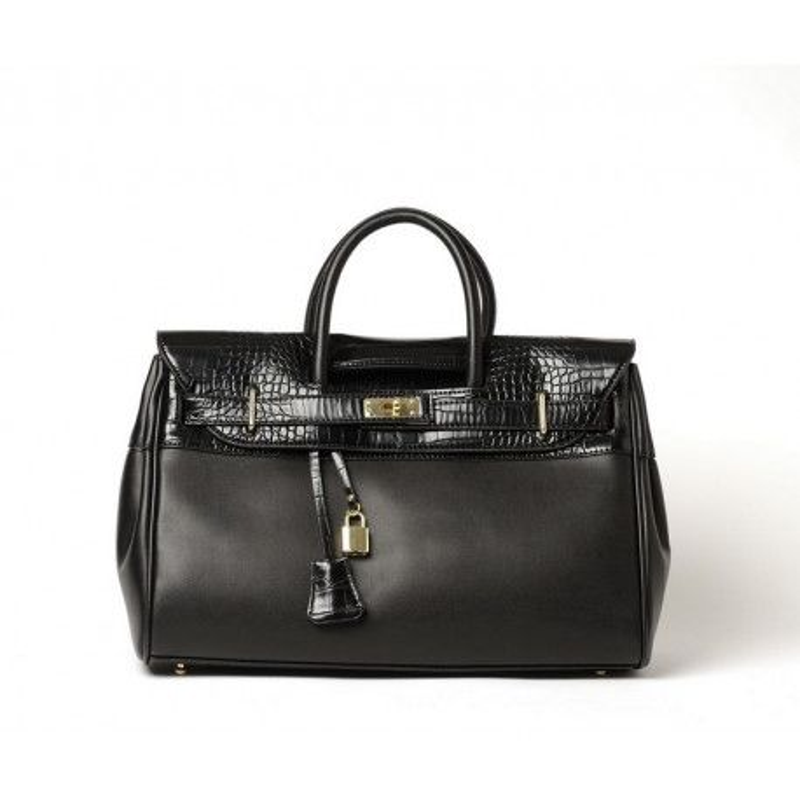 PYLA VEGAN, grand sac à main noir