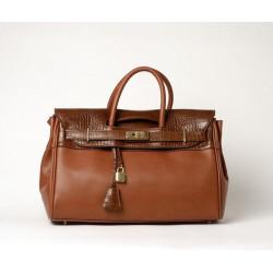 PYLA VEGAN, grand sac à main marron