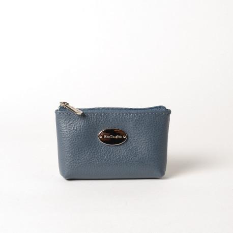 LIMACE BUNI, petit porte-monnaie zippé bleu mineral