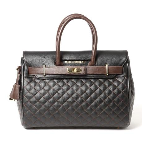 PYLA LOSANGE, petit sac à main noir chocolat mat
