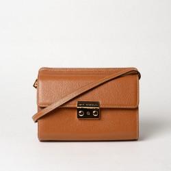 REZANE BUOB, mini sac bandoulière châtain