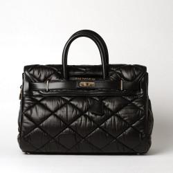 PYLA FANTASIA, grand sac à main matelassé noir