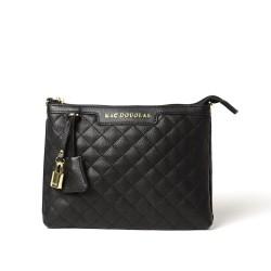 RAKI LOSANGE, sac pochette noir mat