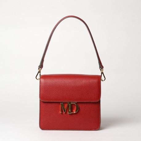 ROUBAIX MD, petit sac porté épaule carmin