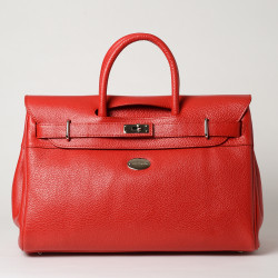 PYLA BUNI, grand sac à main rouge fraise