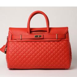 PYLA LOSANGE, grand sac à main coquelicot mat