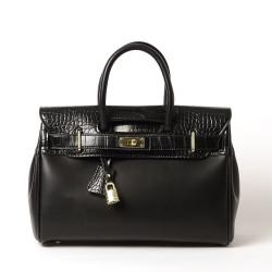 PYLA VEGAN, petit sac à main noir