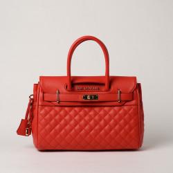 PYLA LOSANGE, mini sac à main coquelicot mat