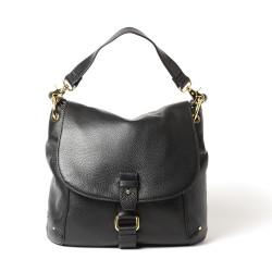 MANDALAY PROCIDA, grand sac besace noir